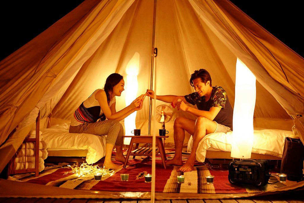 電源の取れないキャンプサイトに電気の便利さを提供します