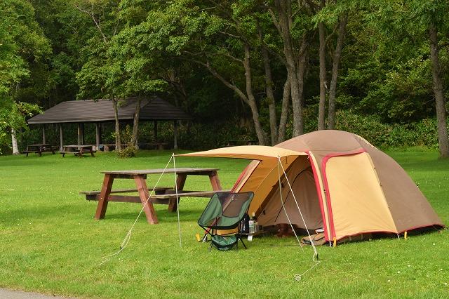 広いキャンプ場