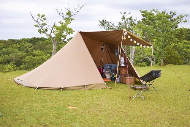 風通しがよいキャンプ場